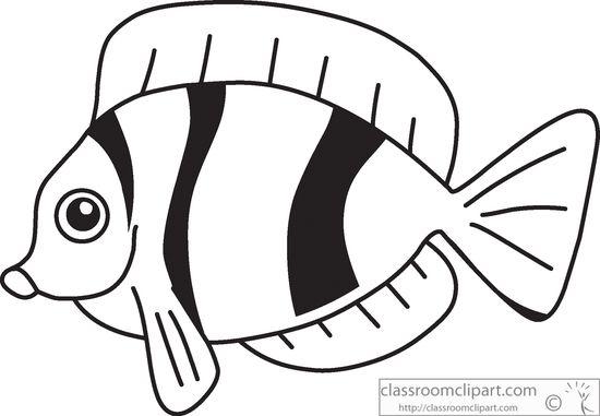 Fish black and white tropical fish clip art free.