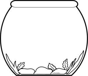 Free Fish Bowl Clipart Black And White, Download Free Clip.