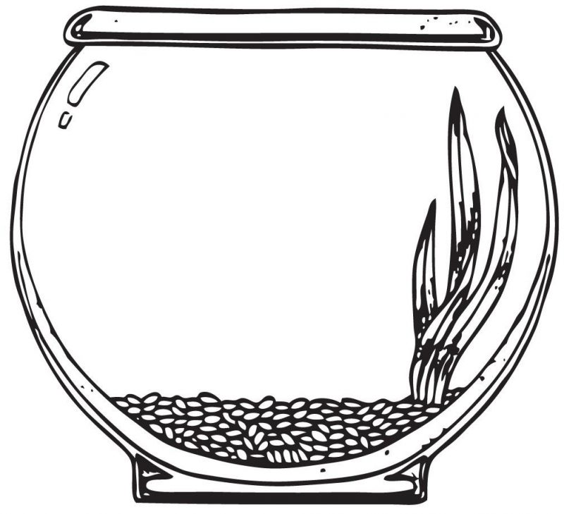 592 Fish Bowl free clipart.