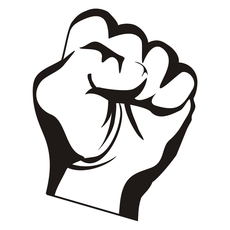 Black White Fist Logo Png Motor.