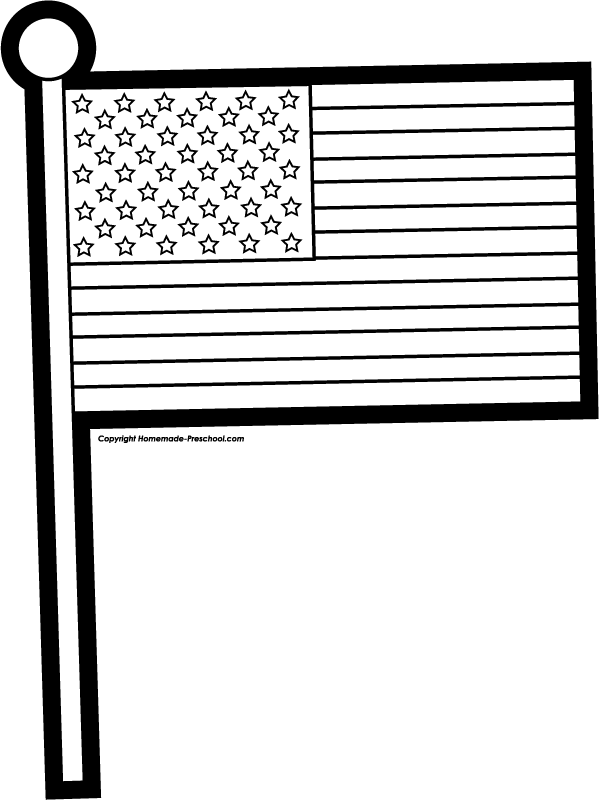 48+ American Flag Clip Art Black And White.