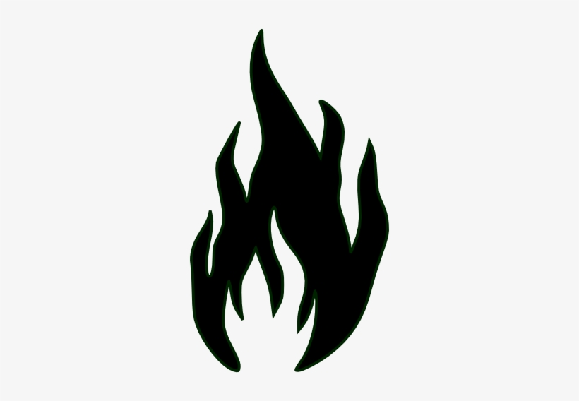 Flames In Black And White Clip Art At Clker.
