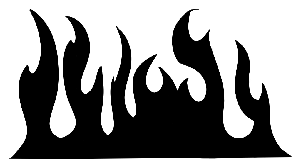Free Black And White Flame Clipart, Download Free Clip Art.
