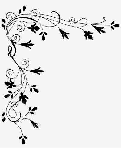 flower border clip art , Free clipart download.