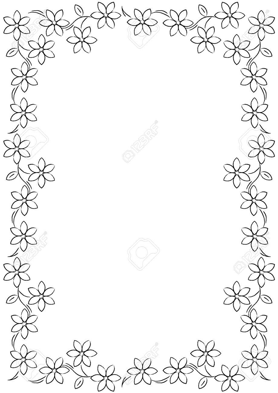 Best Black And White Flower Border #15721.