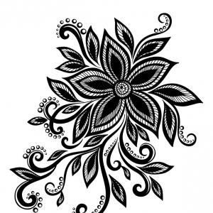 Flowers Vector Black And White Png.
