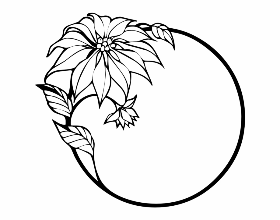Black White Flower Png.