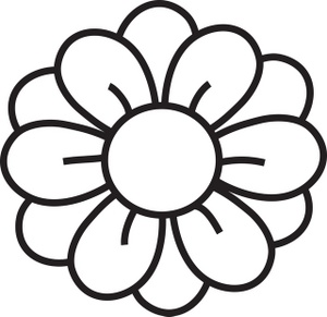 Flower Images Black And White Clipart.