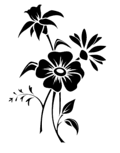 999+ Flower Clipart Black And White [Free Download].