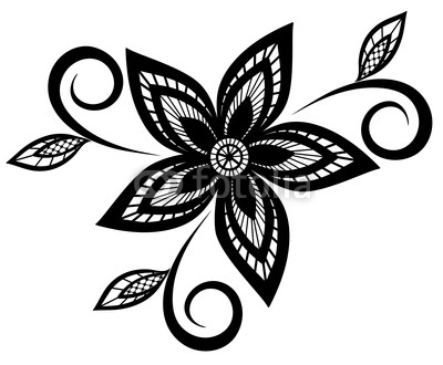 Free Black And White Flower Design, Download Free Clip Art, Free.