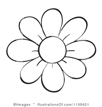 bunch of flowers clipart black and white.