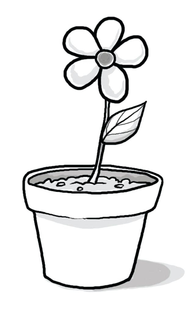 Black And White Clipart Pot.