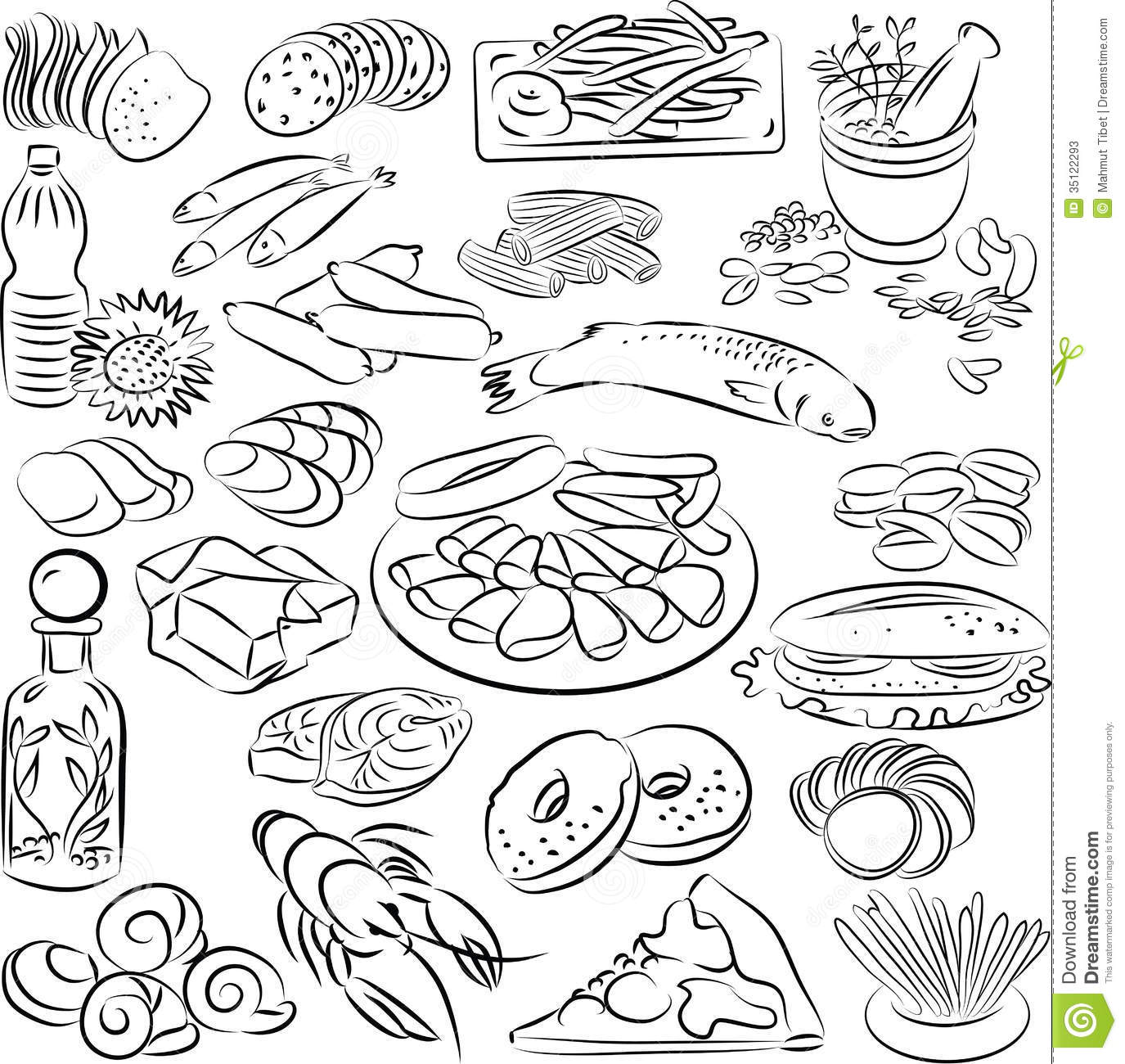 Free Black And White Food Clipart & Free Clip Art Images #24041.