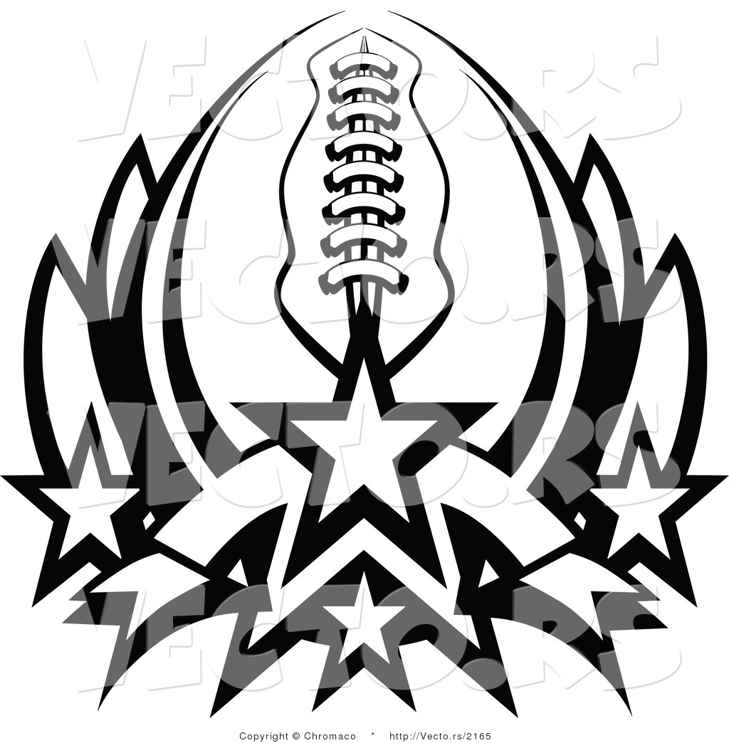 Football Clip Art Black And White.