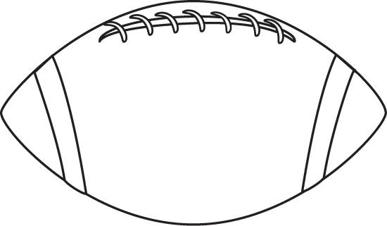 Football Clipart Black And White.