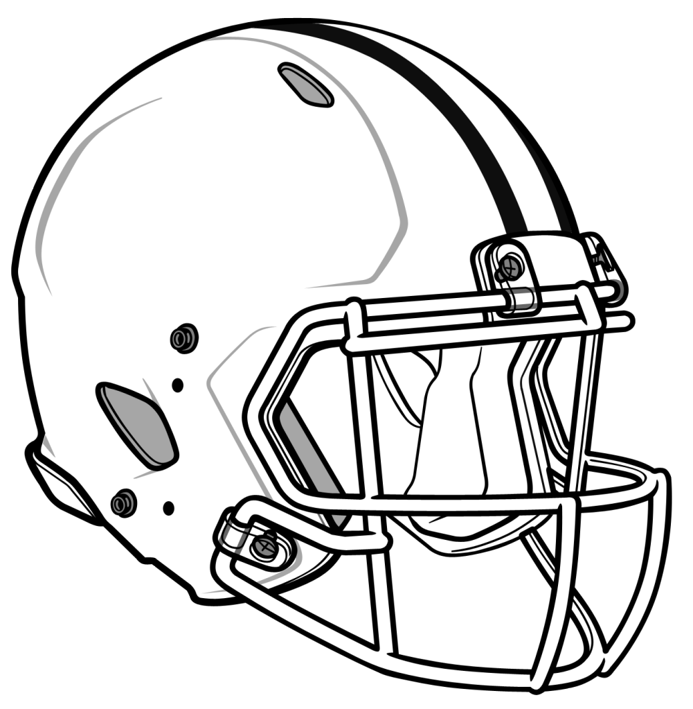 Free Black And White Football Helmet, Download Free Clip Art.