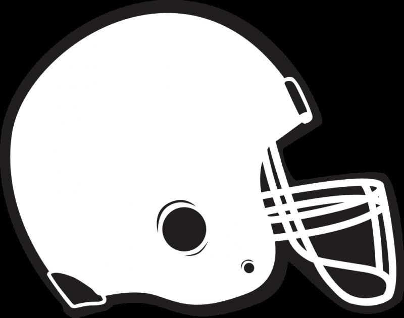 Football helmet Clipart drawing free image.