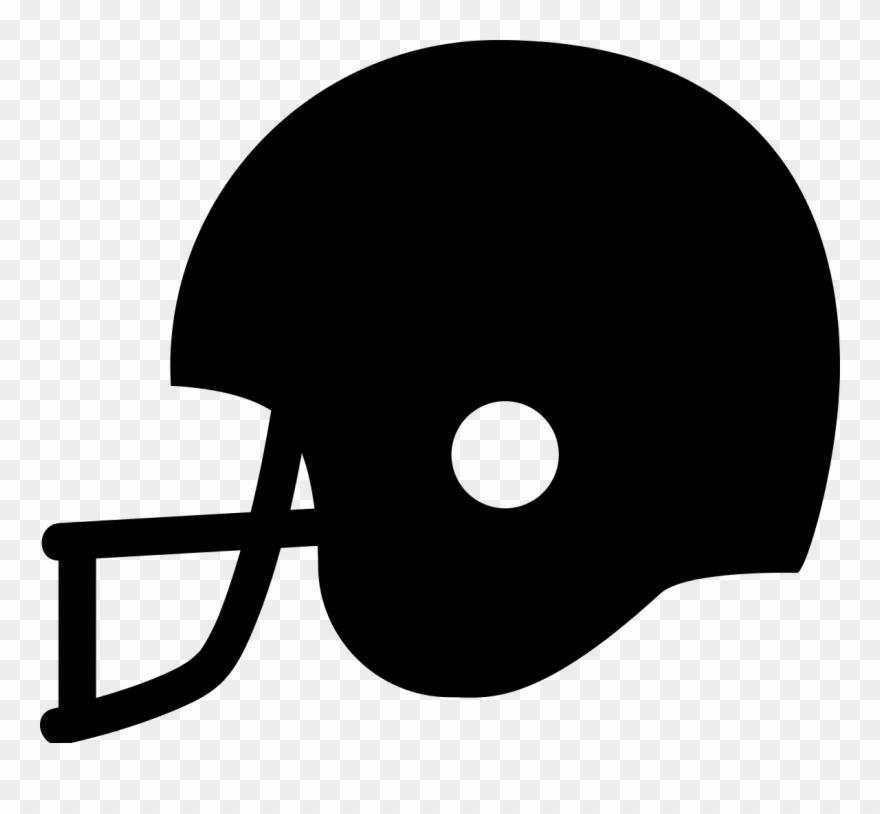 Football Helmet Clipart Black.