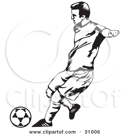 Football Player Clipart Black And White.