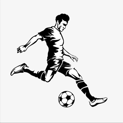 Playing Soccer Png Black And White & Free Playing Soccer Black And.