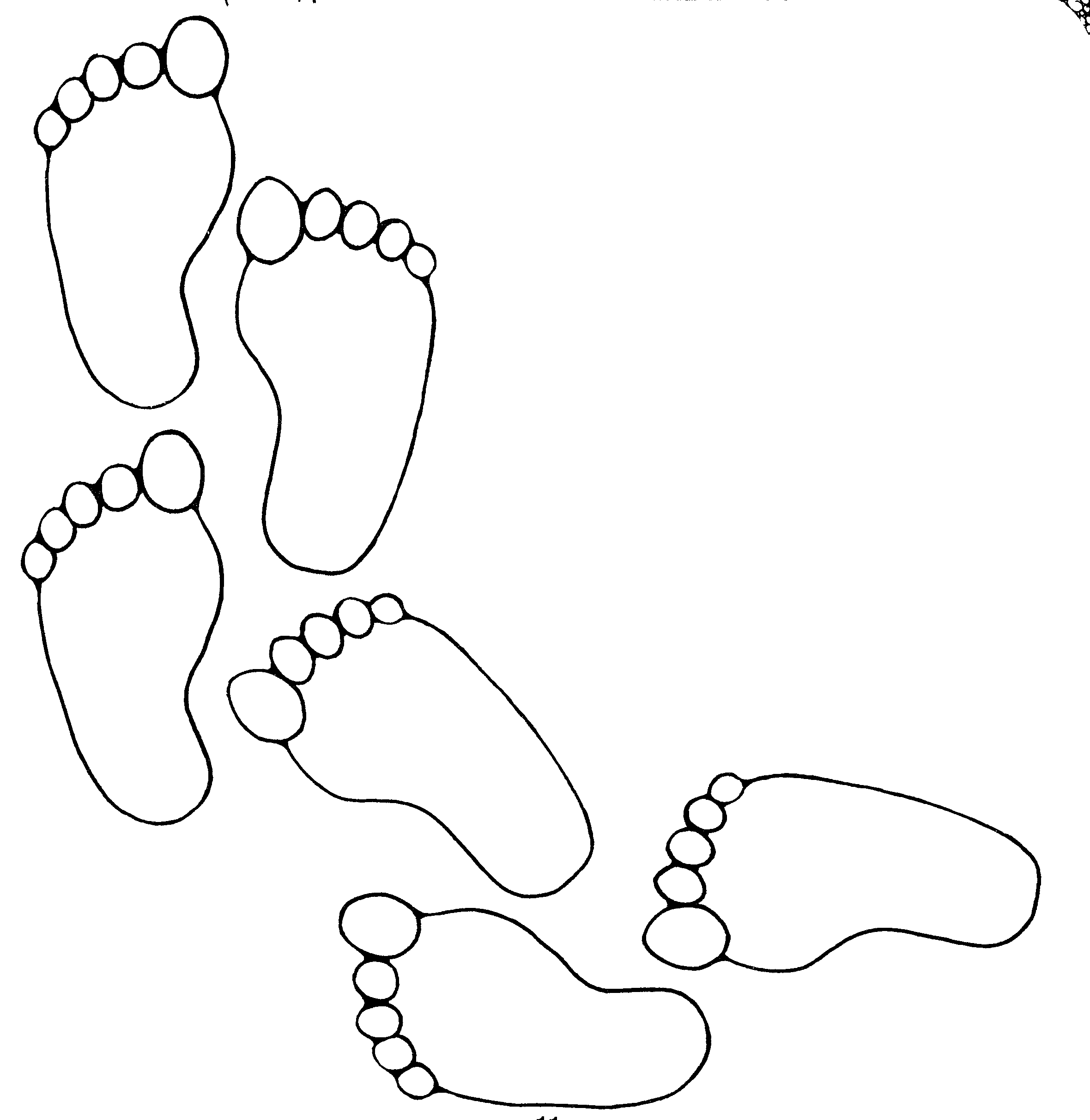 Free Black And White Footprints, Download Free Clip Art.