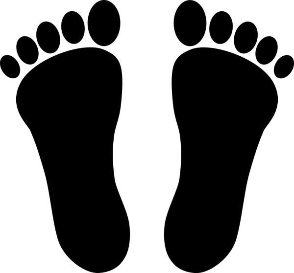 Footprints Clipart Black And White.