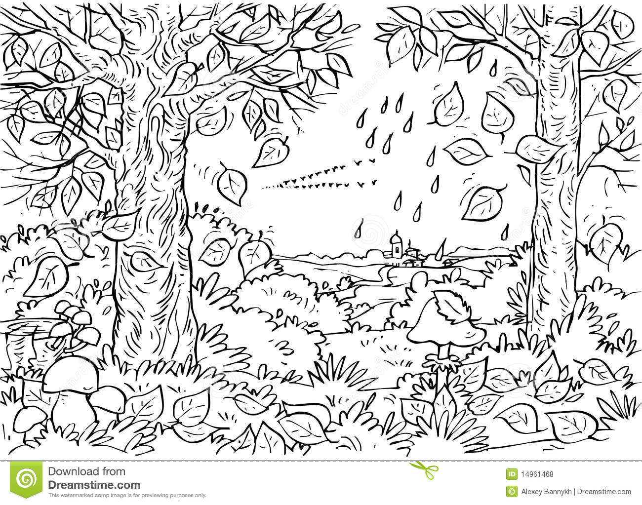 Forest clipart black and white 5 » Clipart Station.