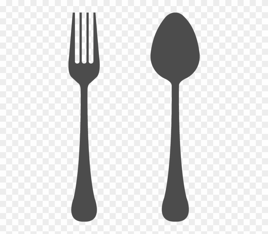 Clip Art Black And White Download Spoon And Fork Transparent.