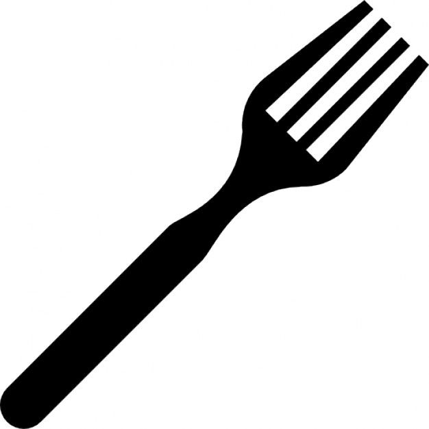 Fork black and white clipart 2 » Clipart Station.