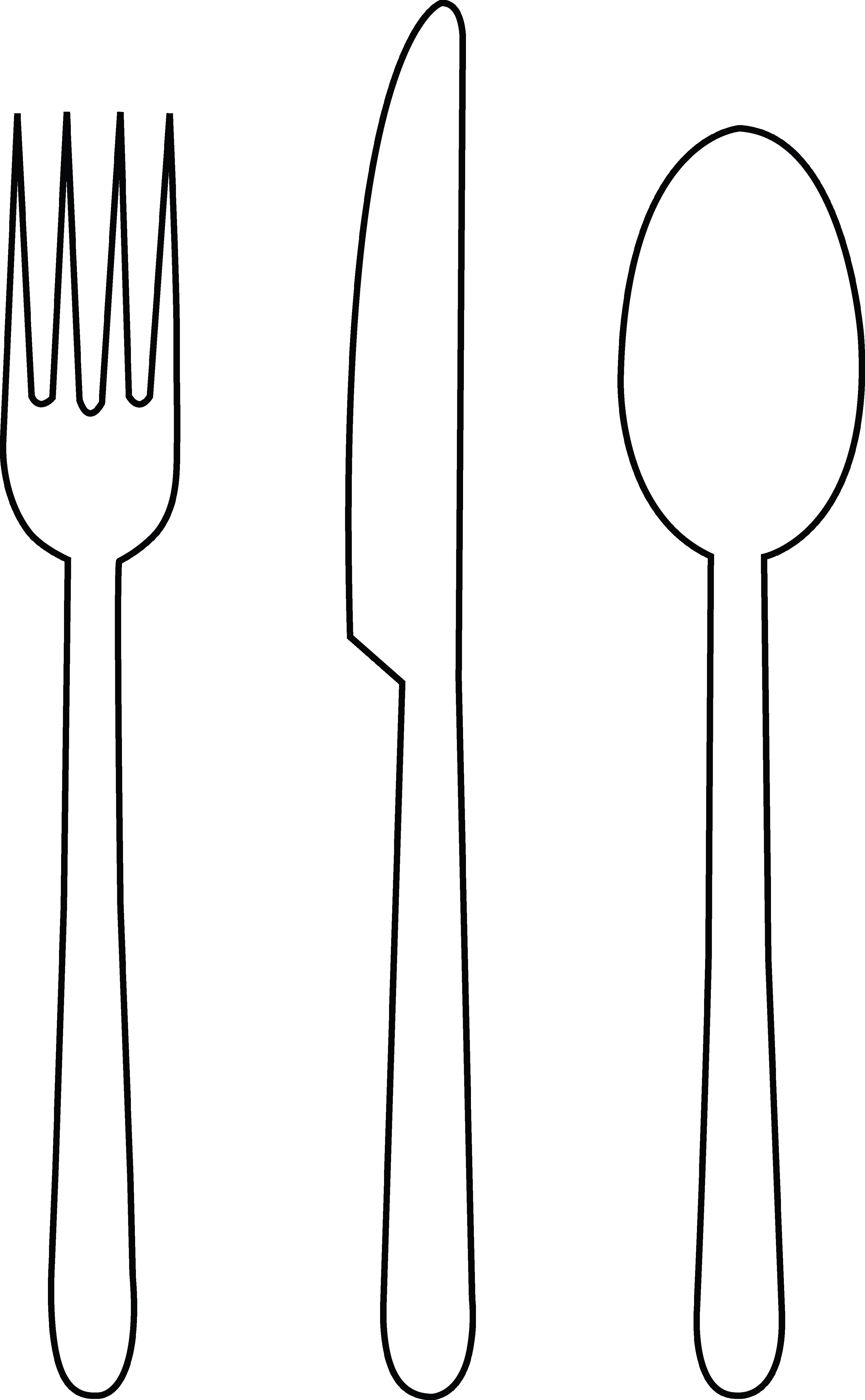 Spoon Clipart Black And White Png.