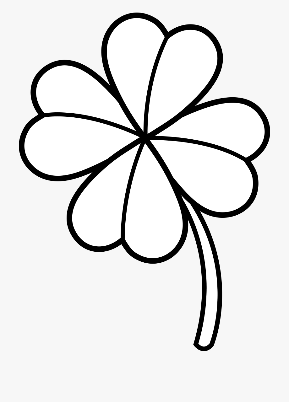 Colorable Four Leaf Clover.