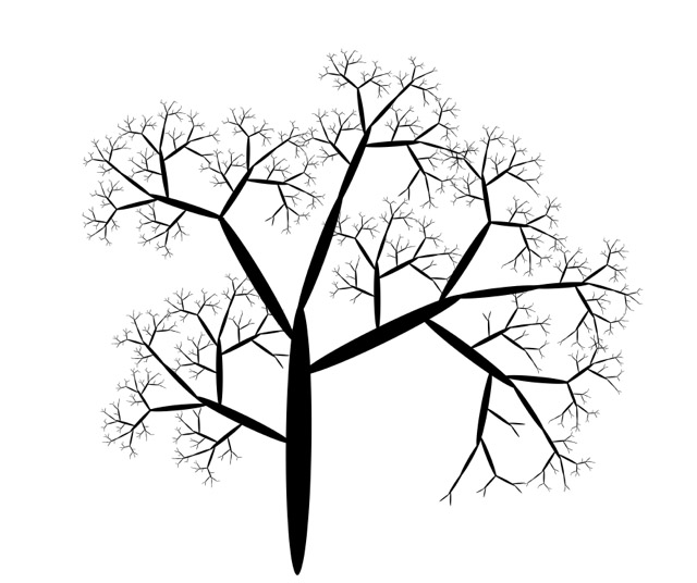 Boab tree fractal.
