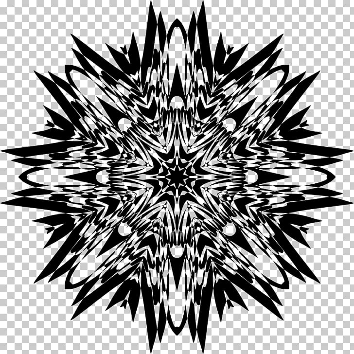 Sacred geometry Fractal art, painting PNG clipart.
