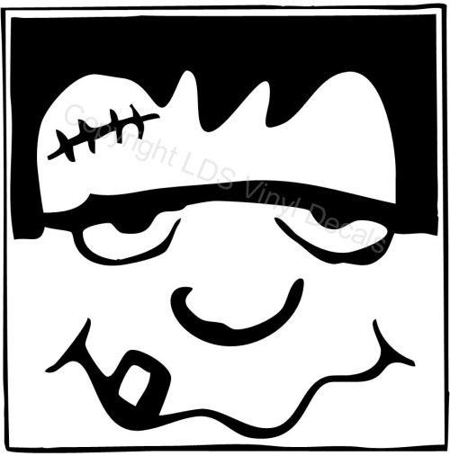 frankenstein clipart black and white.