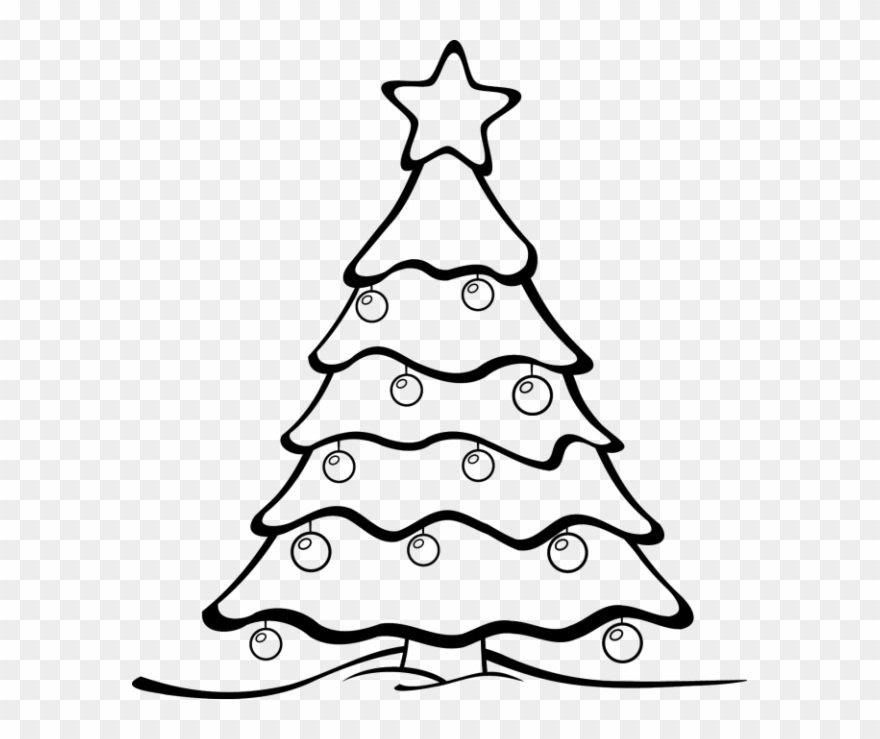Clipart, Christmas Clip Art Black And White Free Graphic.