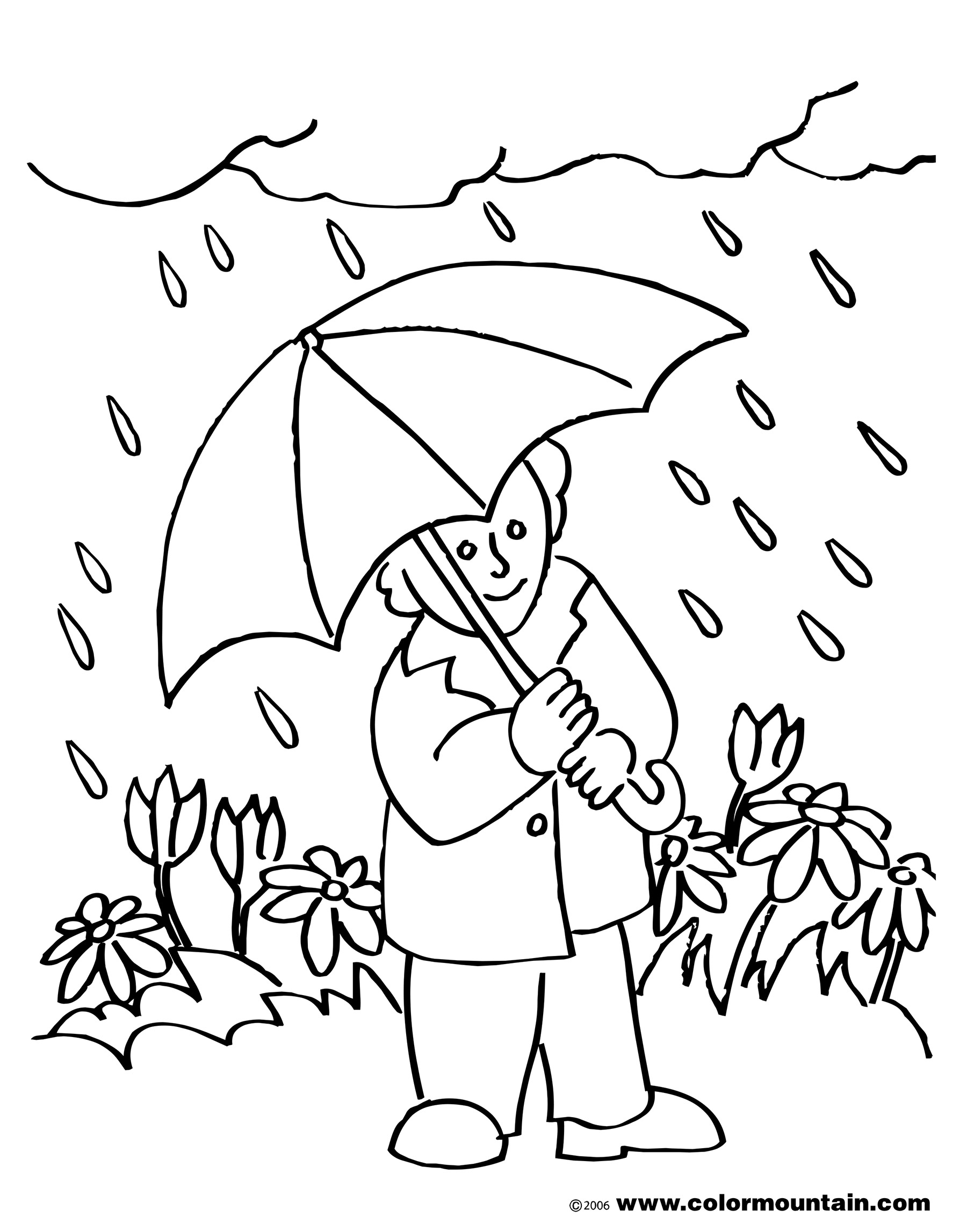 Black And White Month Of May Spring Clip Art.