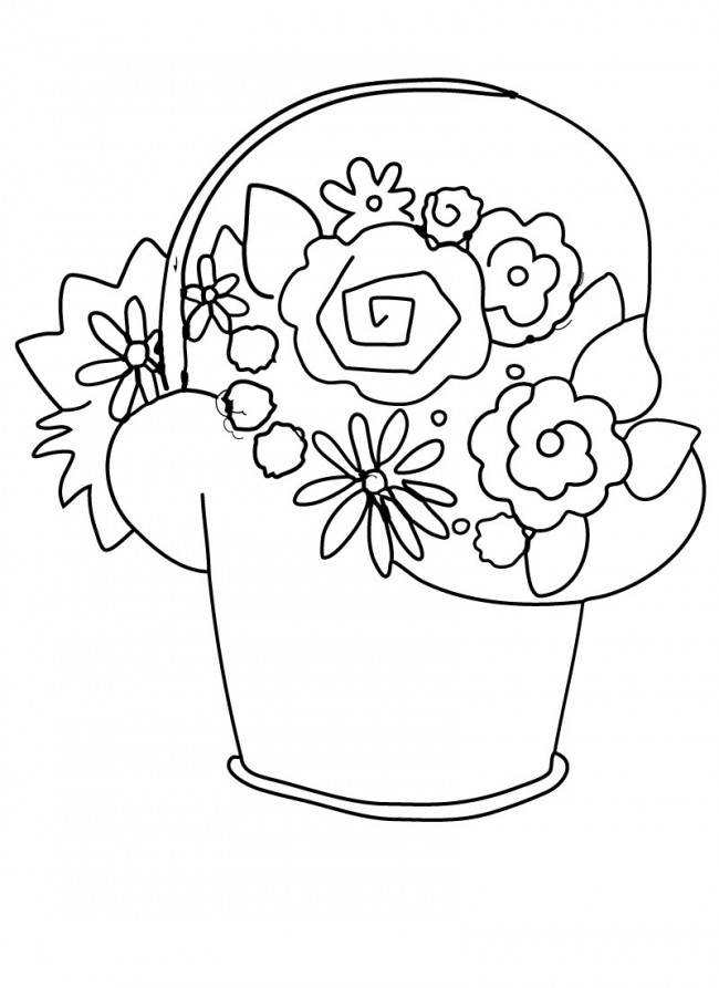 May Day Basket Clipart.