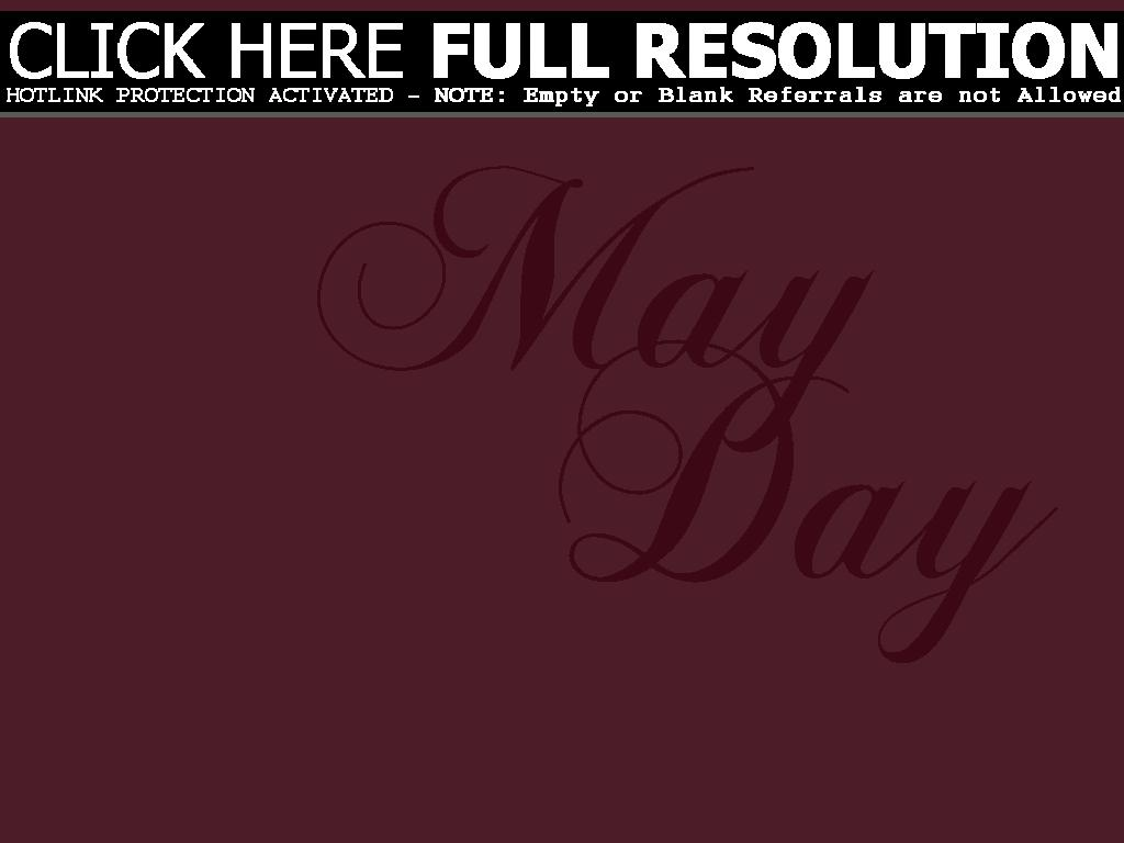 Black And White Free May Day Clipart.