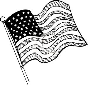Free Flag Clipart Black And White.