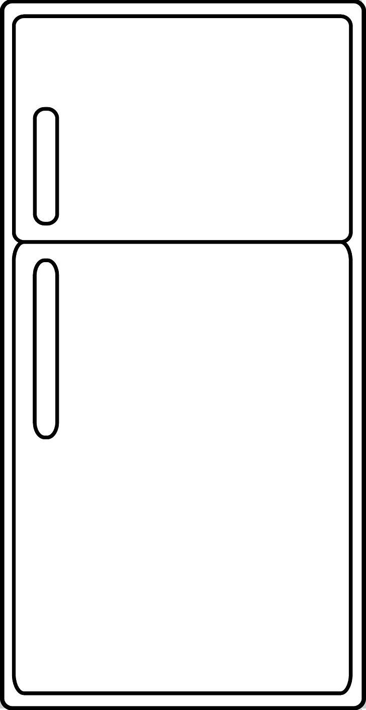 Refrigerator Kitchen PNG, Clipart, Angle, Area, Black, Black.