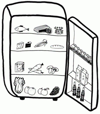 Milk From Fridge Clipart Black And White Collection with.