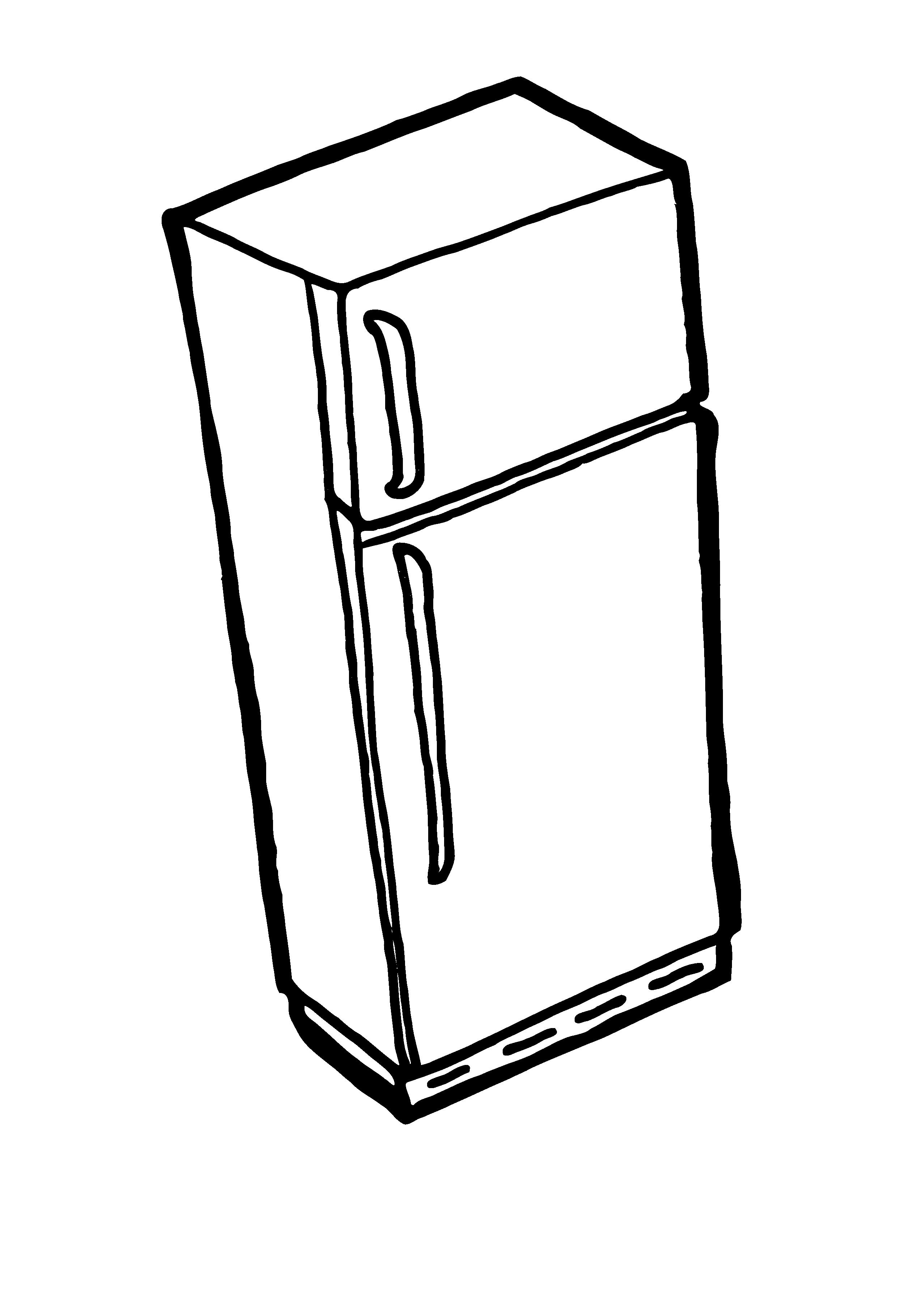 Fridge Clipart Black And White.