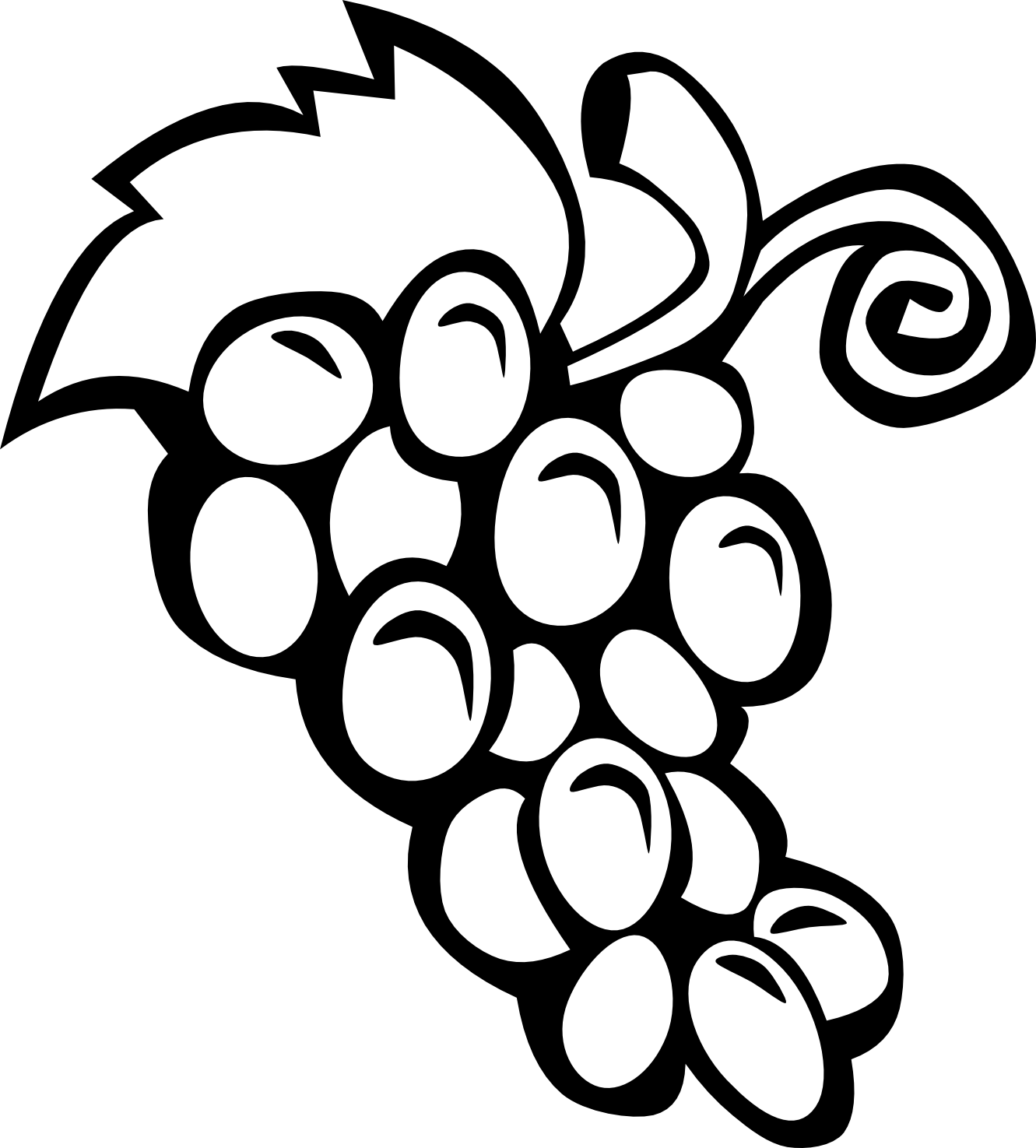 Black And White Fruit Clipart.