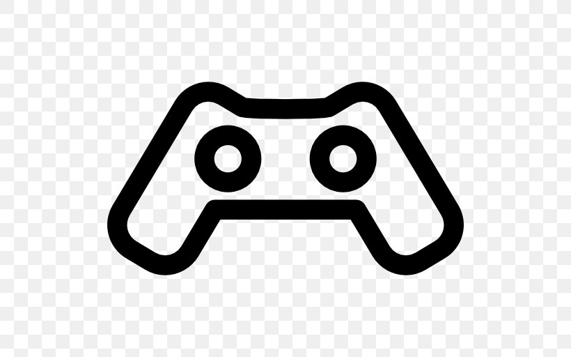 Black And White Gamer User Interface, PNG, 512x512px, Game.