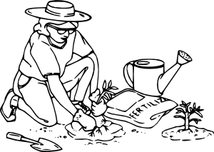 Gardening Clipart Black And White.