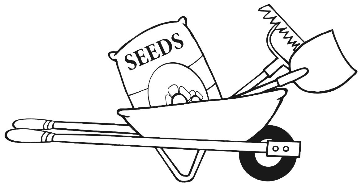 Gardening clipart black and white 5 » Clipart Station.