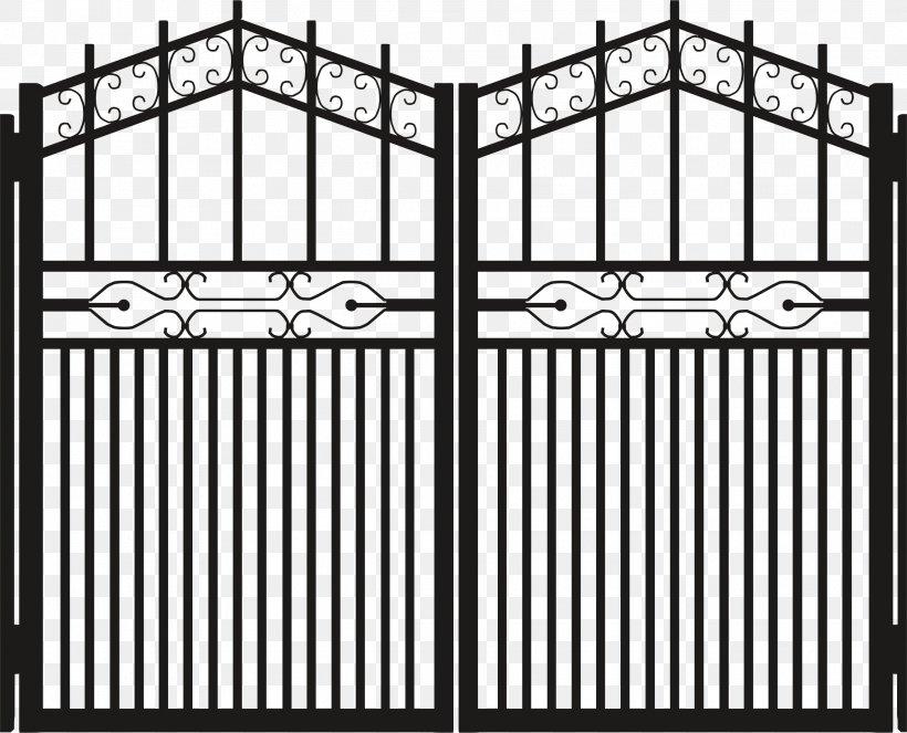 Gate Door Clip Art, PNG, 2276x1842px, Gate, Area, Black.