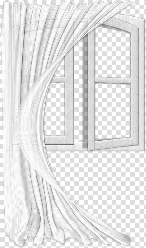 Of window, Window Curtain , White gauze curtains floating.
