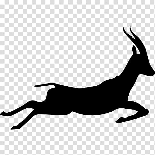Gazelle Silhouette Running Icon, Gazelle transparent.