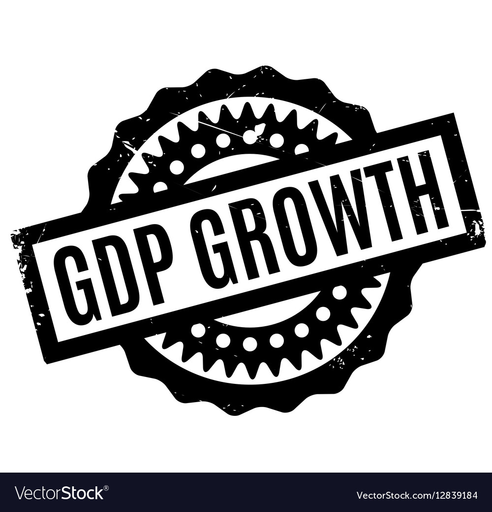 Gdp Growth rubber stamp Royalty Free Vector Image.